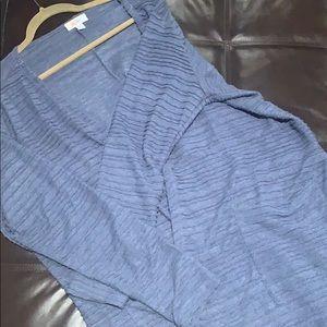 LuLaRoe Pin Tuck Blue Sarah Duster Cardigan